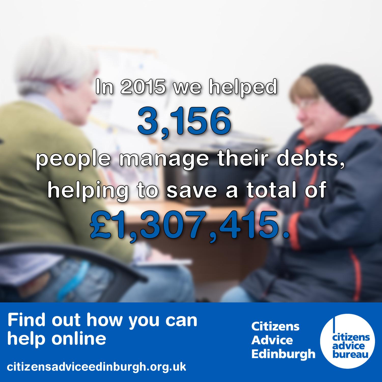 Citizens Advice Edinburgh Debt Advice 2015