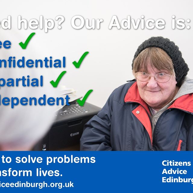 Between April 2017 and March 2018, more than 11000 people came for advice at our 5 #Edinburgh bureaux.