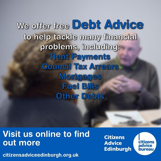#Debt #Advice -  The earlier you contact us for help the more we can do to help you improve your situation.  If you're struggling with your finances please make an appointment or drop in to see an adviser at one of our bureaux here in #Edinburgh.  https://www.citizensadviceedinburgh.org.uk/debt-advice/