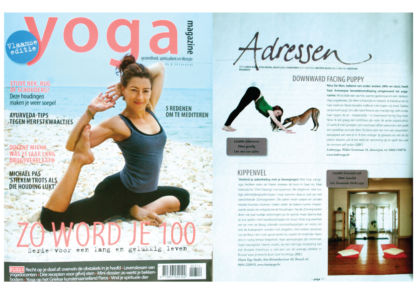 Yoga Magazine Flemish edition #3, 2014