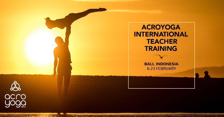 Bali Acroyoga Level 1 Teacher Training 6-23rd Feb