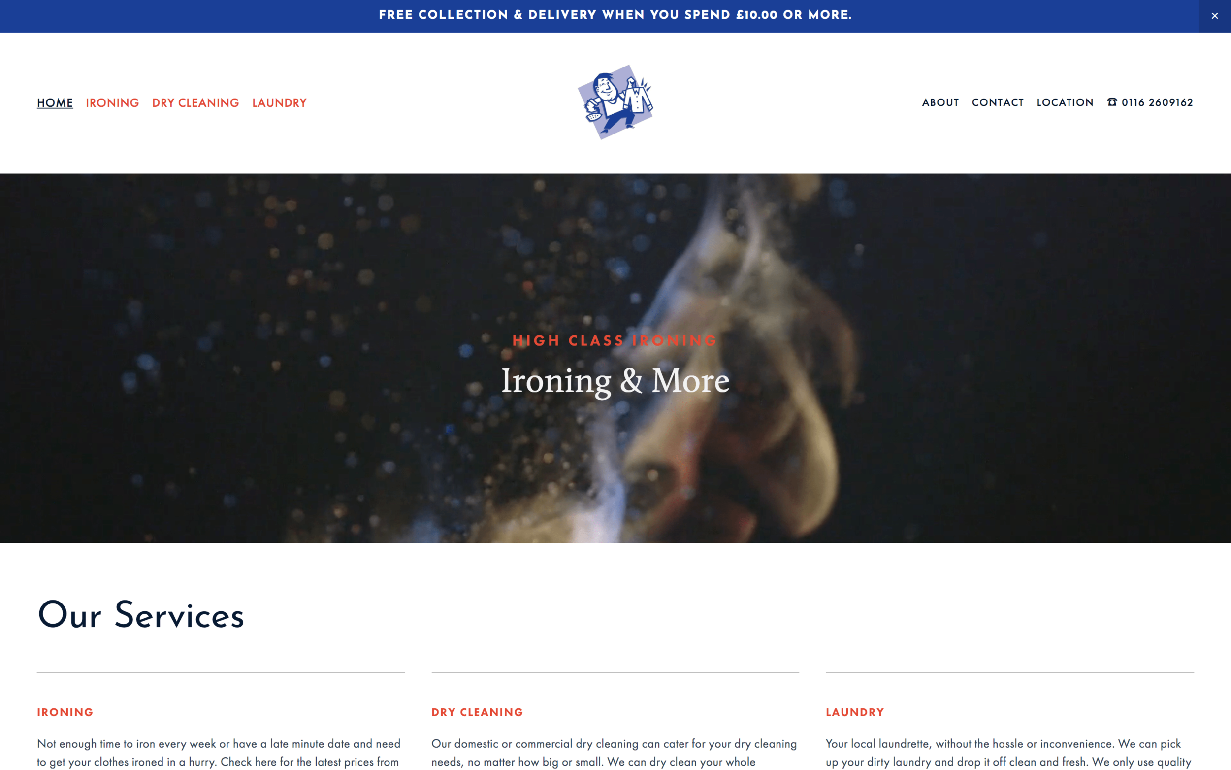 High Class Ironing Website Design