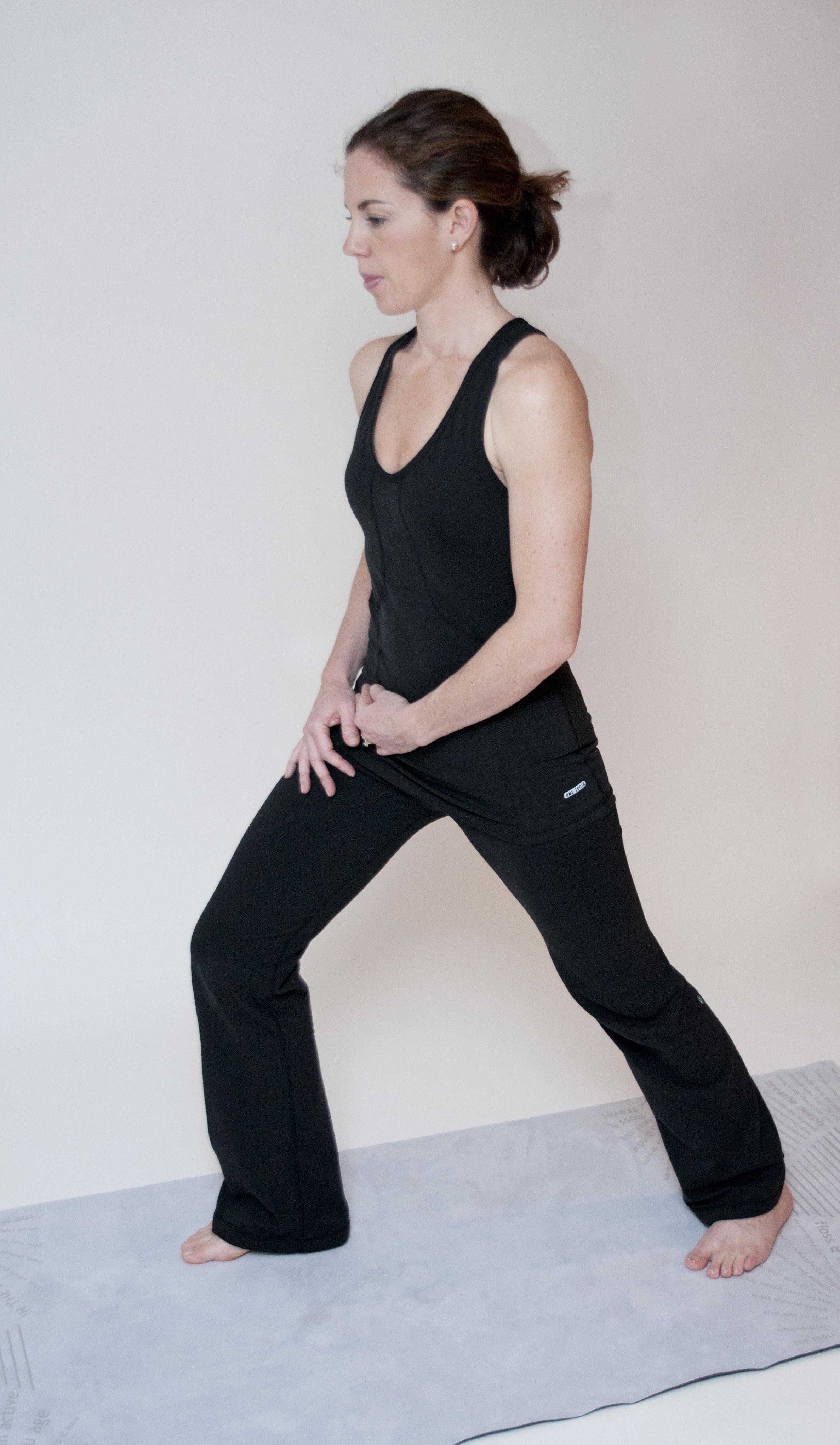 Standing(bent knee) calf stretch