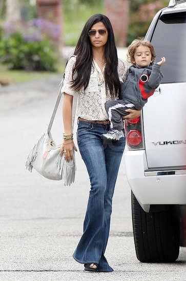 Camila Alves in Chelsea Flower lace top