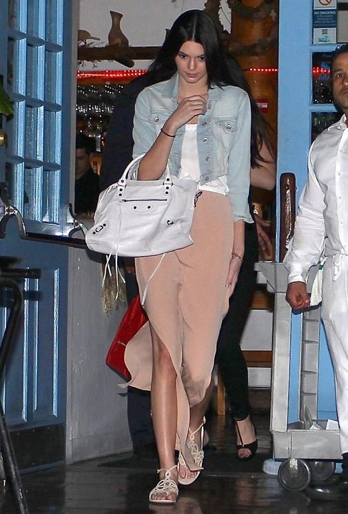 Kendall Jenner in Chelsea Flower maxi dress