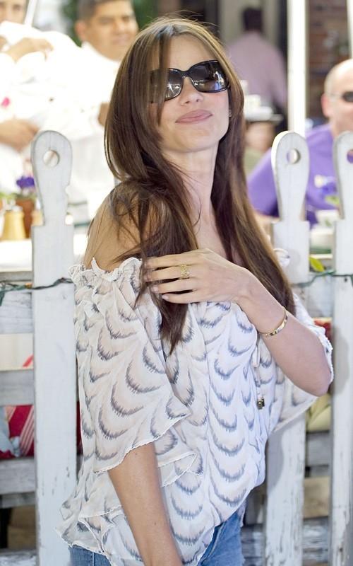 Actress Sofia Vergara in Chelsea Flower top Sp 2011