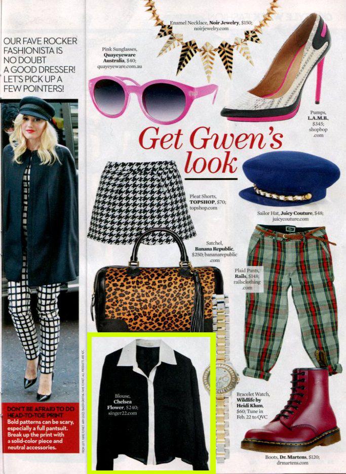 Chelsea Flower in OK Magazine Feb 2013