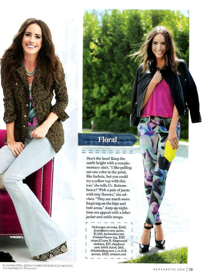 Chelsea Flower silk halter in US Weekly June 2013
