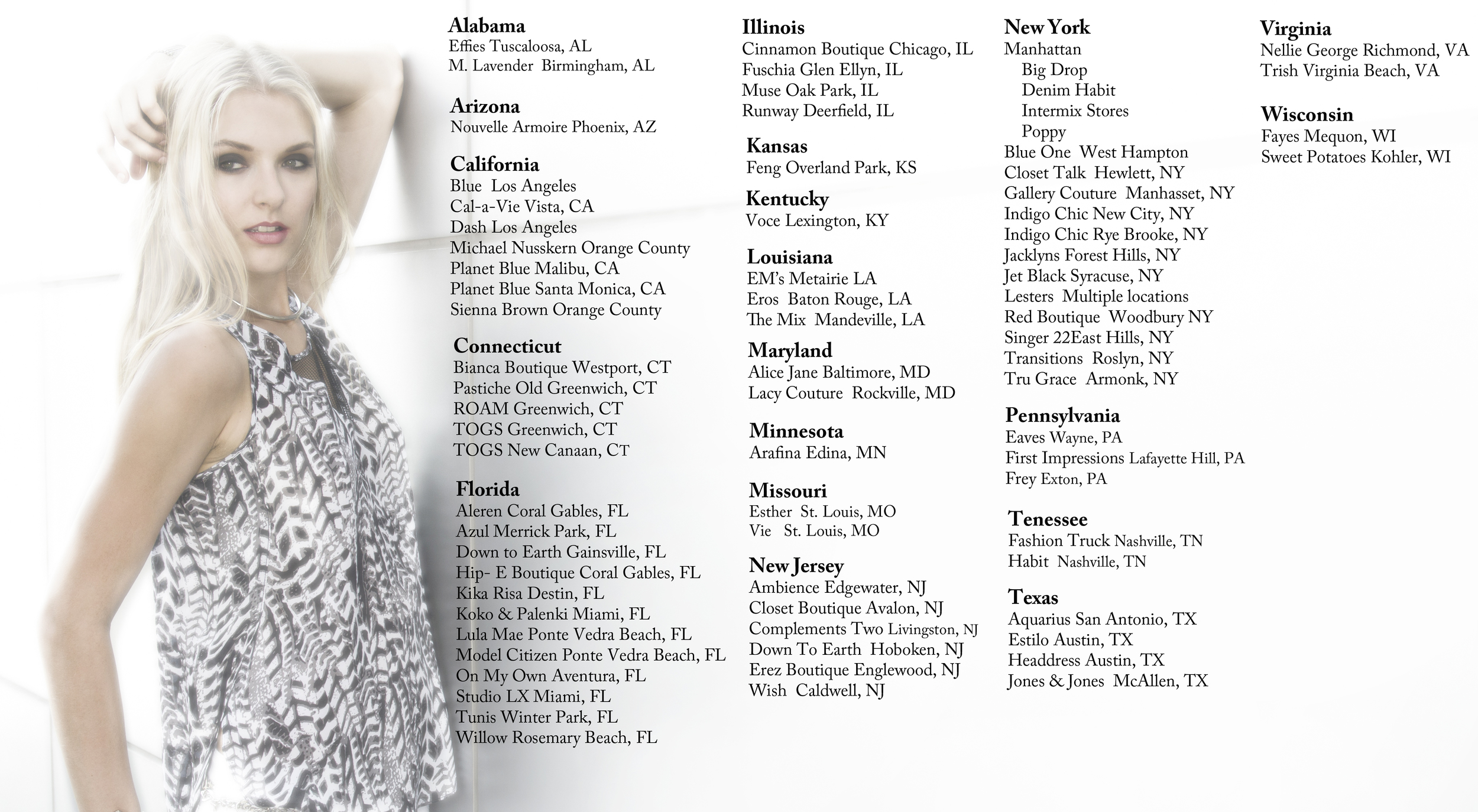 Chelsea Flower US retailers