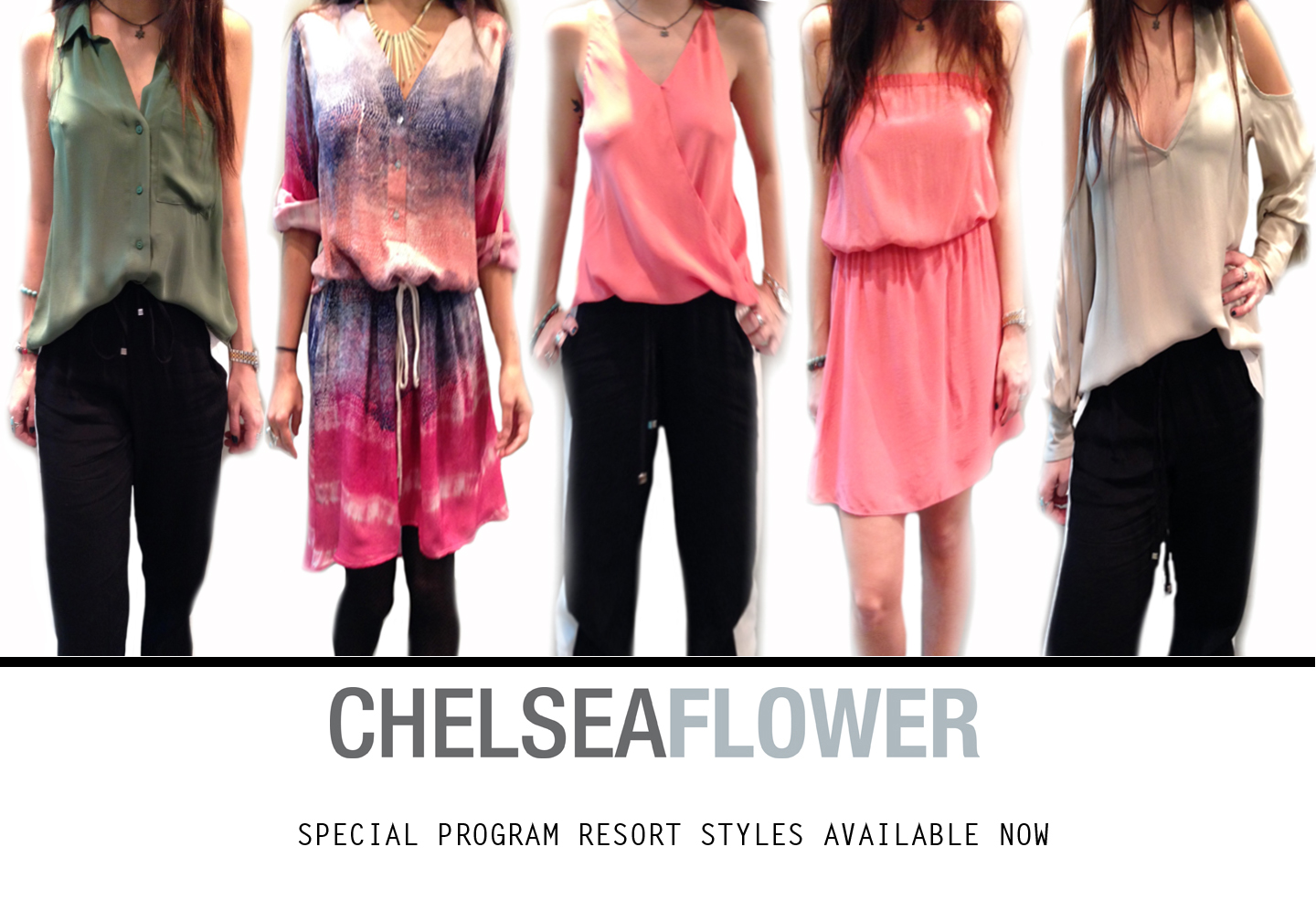 Chelsea Flower clothing online exclusives