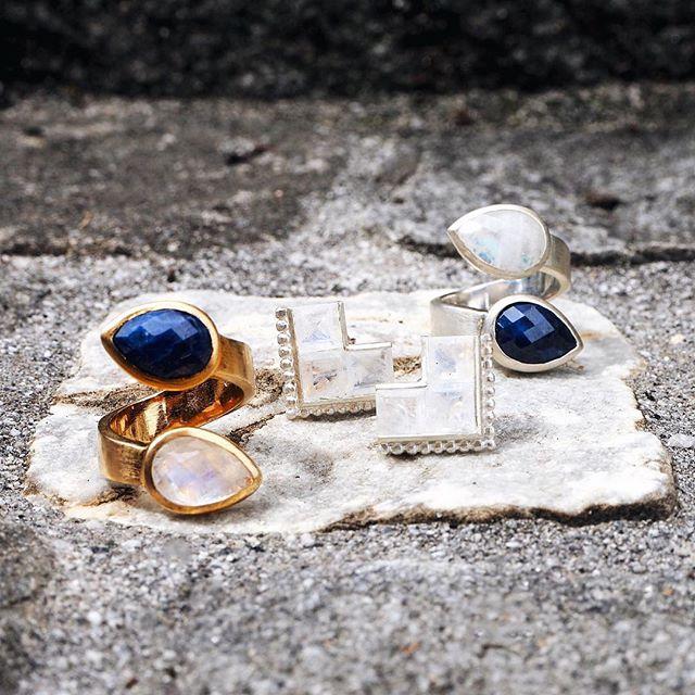 Sparkle in the summer sun✨🌞 #kinsfolk #jewelry #earrings #rings #gemstones #summersun