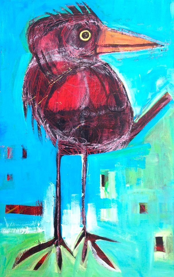 "blackberry   acrylic on wood panel  11.5x18""   $225  currently showing at  Gardens"