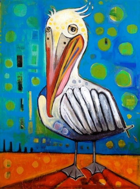 "penelope pelican    30"" x 40""  commission for ron"