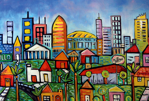 my phoenix  urban landscape   commission