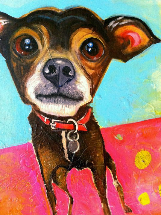 """ratso   acrylic on canvas  12x16""""  commission for dale"""