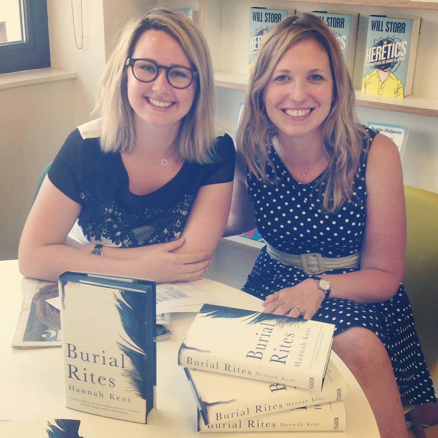 Australian author Hannah Kent (left) with Book Ends host, Philippa Moore