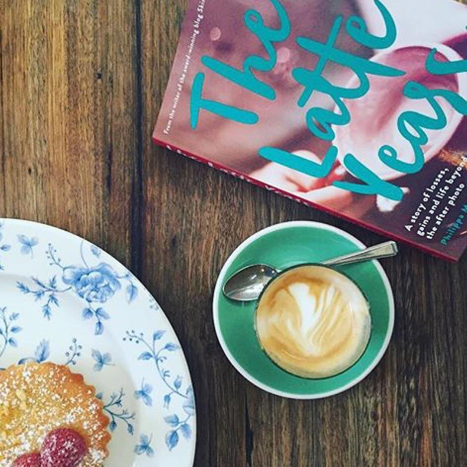 This book goes very well with coffee. Thank you to my friend  Phillippa  for the photo!