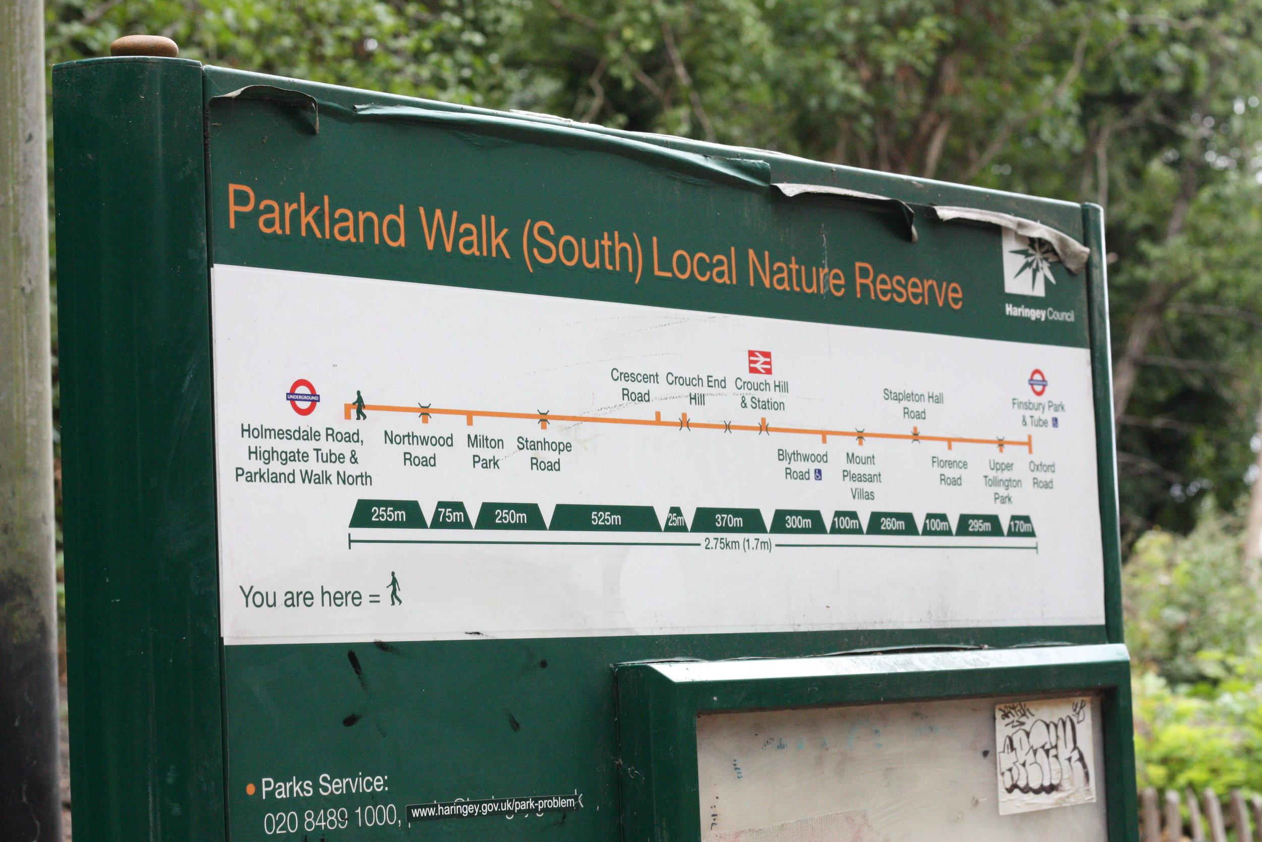parkland-walk-sign