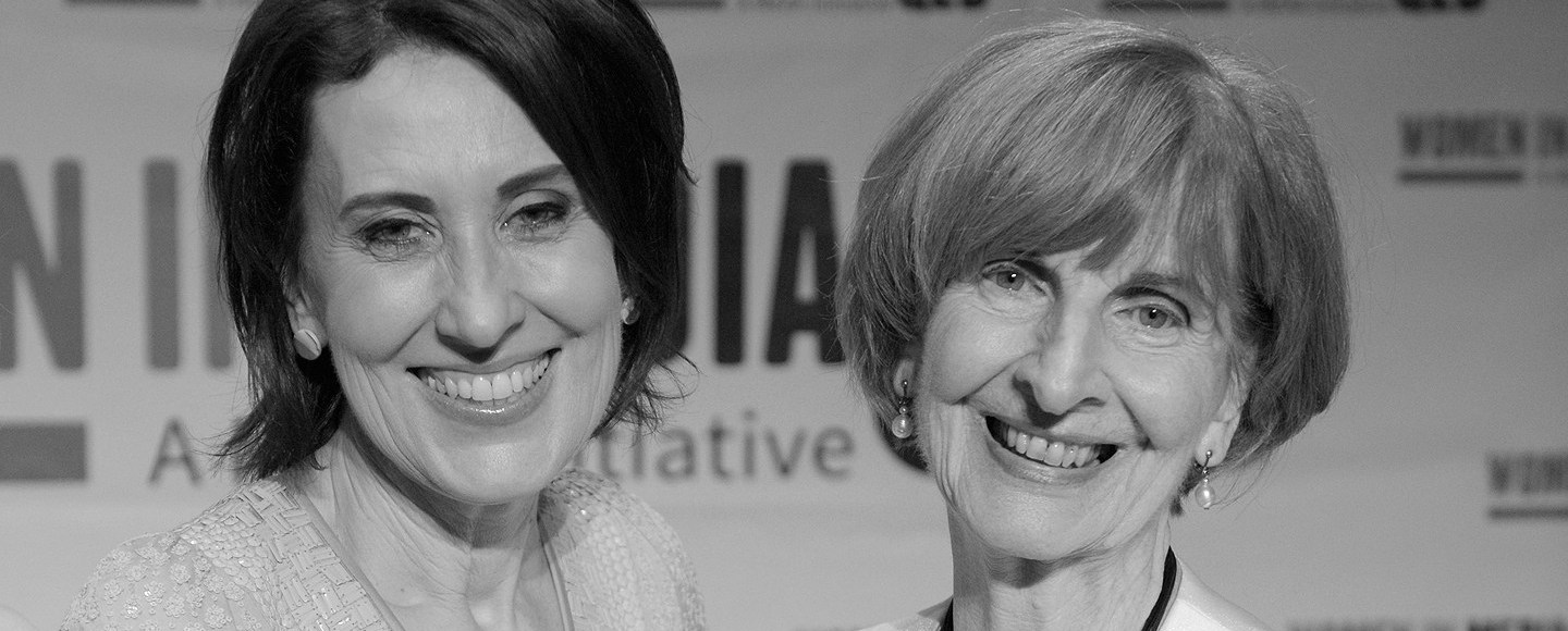 Virginia Trioli and Caroline Jones, speakers at the event.  Image credit