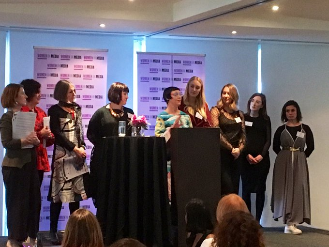 The Tasmanian Women in Media committee getting some well-deserved applause!