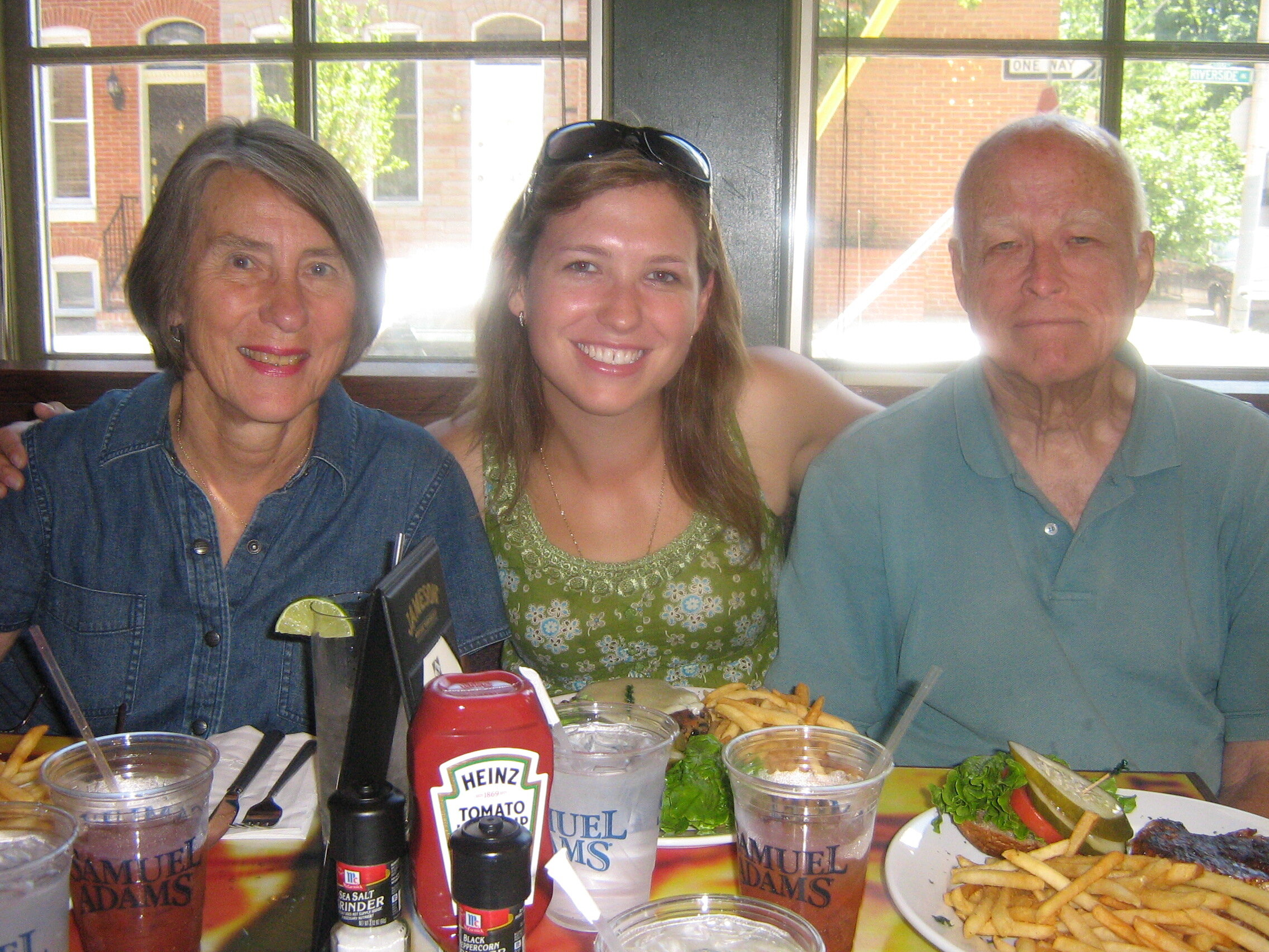 With Val and Jim, Annapolis, July 2007.
