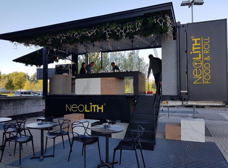 Neolith Food and Roll last seen in Verona, Italy at The Crowne Plaza Hotel