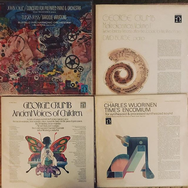 I'm really enjoying these Nonesuch covers from the late 60s/early seventies.  Cheap records, really interesting music.