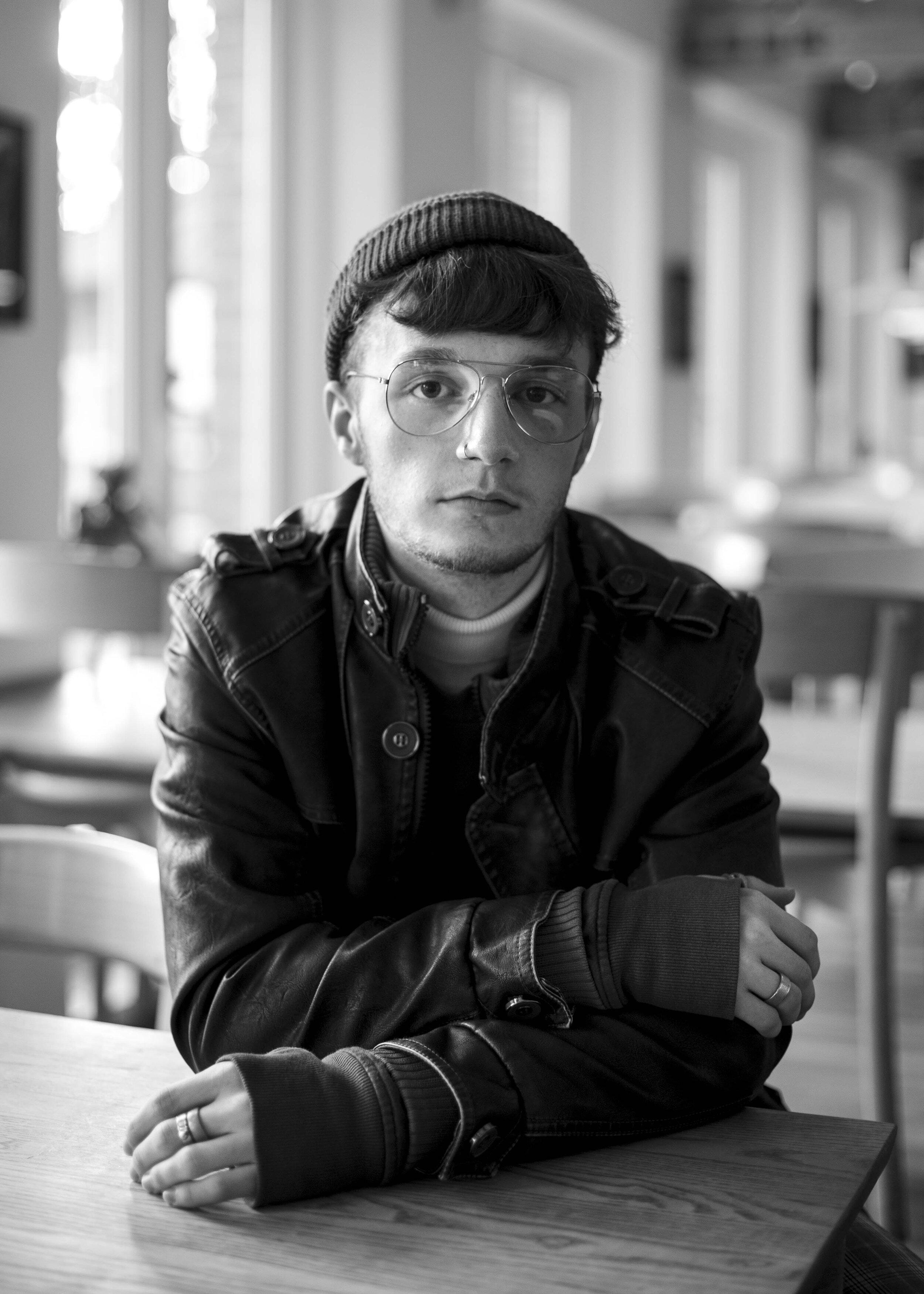 Tobias var træt af omgangskredsen i Aalborg og droppede ud af gymnasiet. I stedet startede han på en ungdomshøjskole for ligesindede. Foto: Mathias Eis Schultz