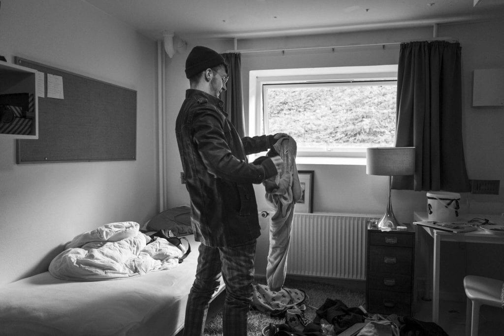 Eleverne har ofte deres egne værelser, der tydeligt er præget af et ungt menneske. Foto: Mathias Eis Schultz