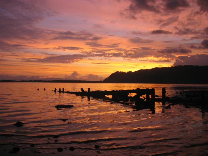 Sunset Golfito in Costa Rica.
