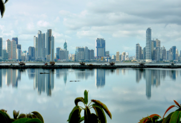 Panama city during the day.