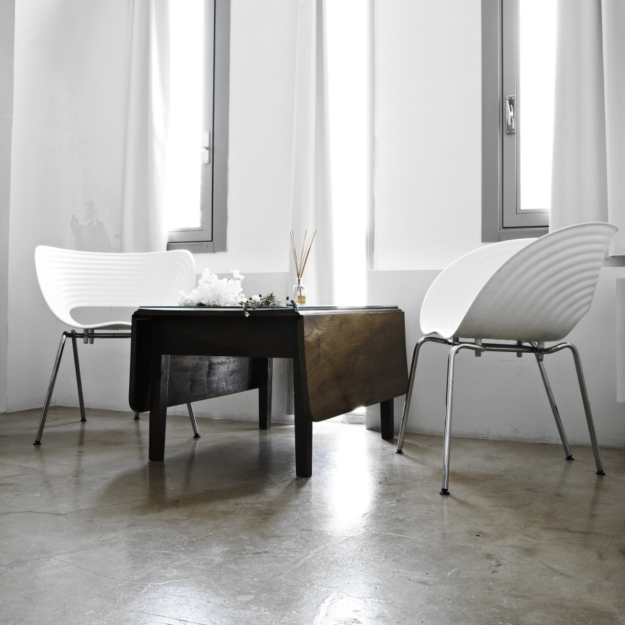 Sophisticated design elements serenade the communal spaces of Masseria Alchimia.