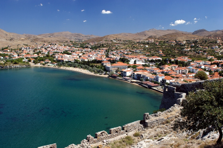 Lemnos bay from castle