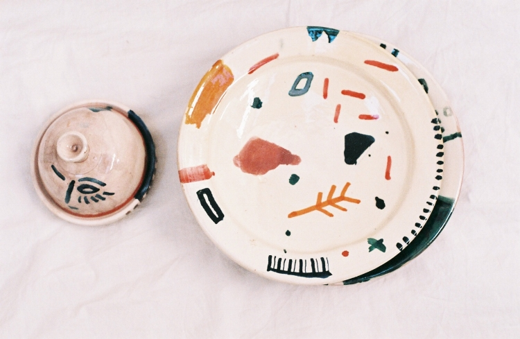 Colourful graphic ceramics