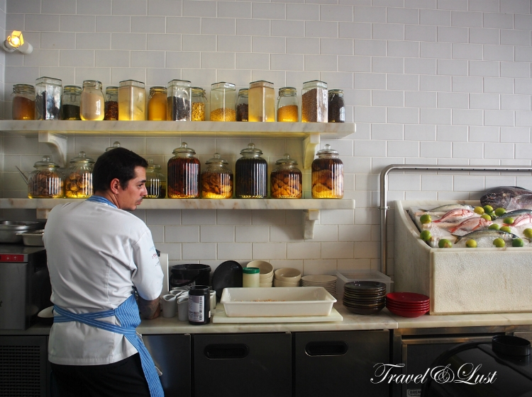 Get up close and personal with the cooks as they prepare the dishes in front of you in the bar seating area.