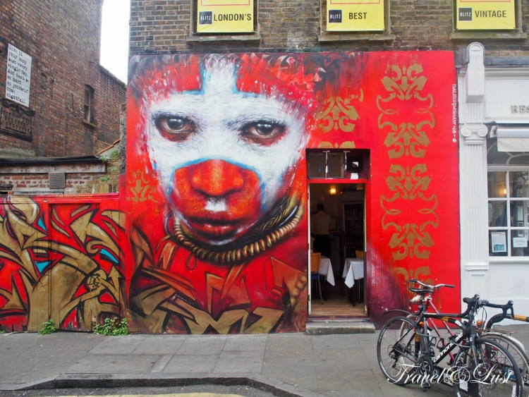 This graffiti is on Handbury Street in Shoreditch, Bricklane. This promotes Papua New Guinea and for the people in West Papua that are fighting for independence.