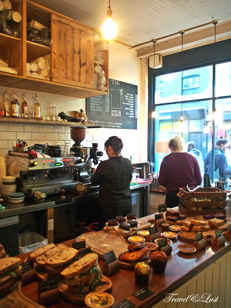 Kahaila has the best velvet cake and latte in Bricklane. This spot is a local nonprofit cafe on Brick Lane. All profits go to support local community projects and other charitable causes. Bricklane 135, E1 6SB.