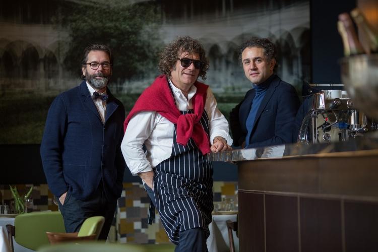 Left to Right: Paul Feakes, Fulvio Pierangelini and Giovanni Cosmai.Photo ©Irene Firenze