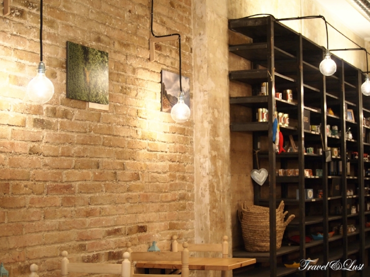 Comfy seatings, neat interior design and exhibitions portrayed on the walls.