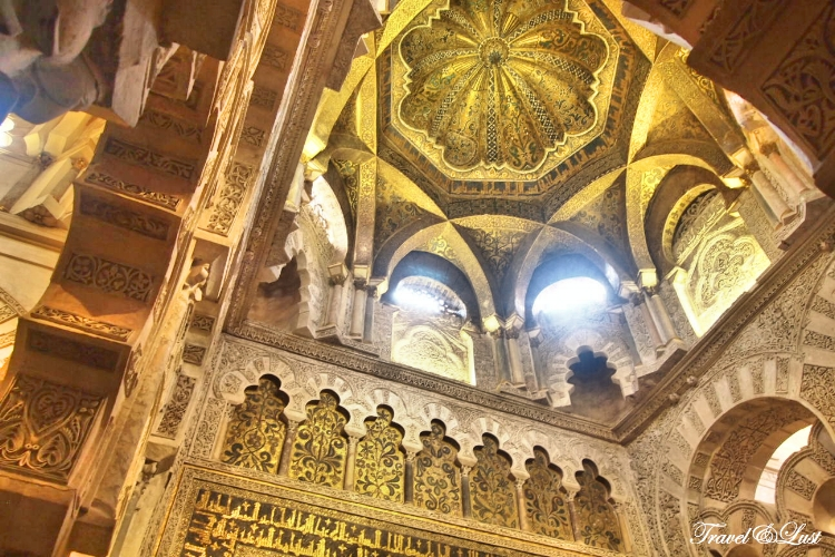 Beautiful decorations inside the Great Mosque and Cathedral of Córdoba.