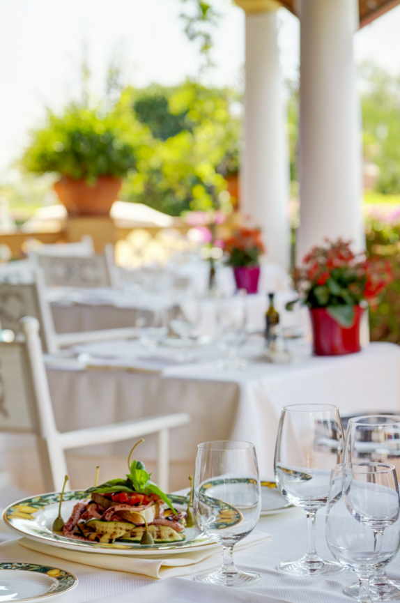 Fine dining in a sophisticated setting.