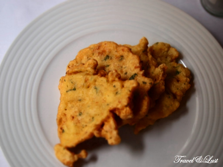 Fried cod fish seasoned in wild herbs.