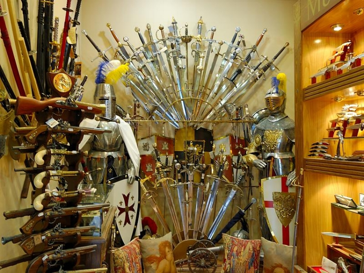 One of many dozens of armour shops in the old town.