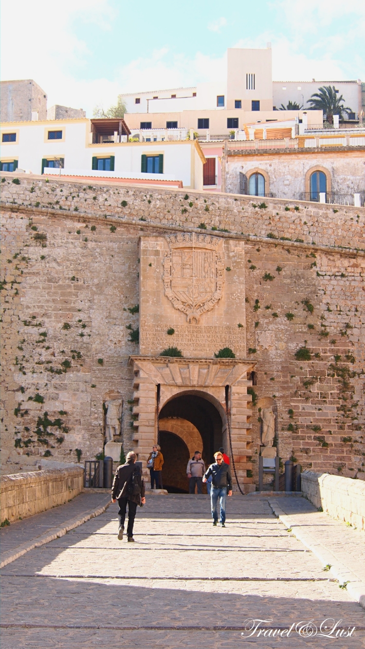 The Portal de Ses Taules is the main entrance to the Old Town of Ibiza, Dalt Vila.
