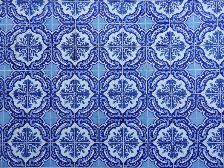 Traditional Portuguese tiles in the city.