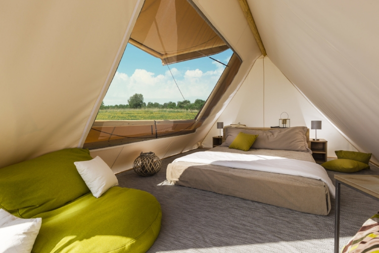 The simple Bell tent available to buy from Adria.