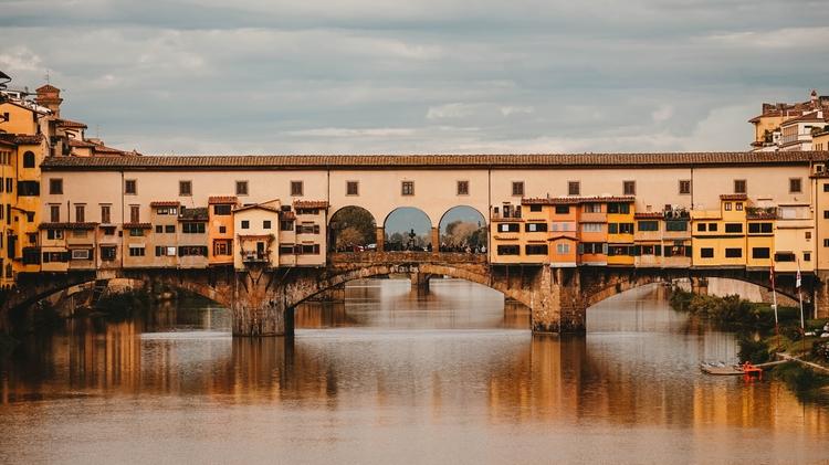 Ponte Vecchio (old bridge) in Florence.
