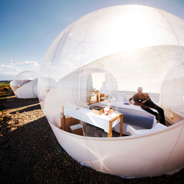 The bubble room at Hotel Aire de Bardenas in Navarra, Spain.
