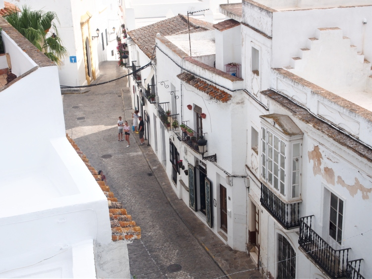 Street view from the tower of Casa del Mayorazgo - a manor house in Baroque style from the 18th century.