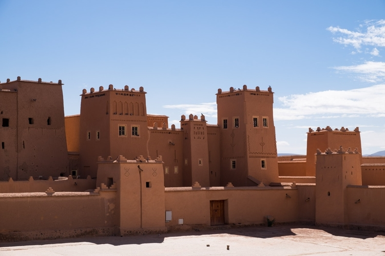 Photography of brown houses in Ouarzazate.
